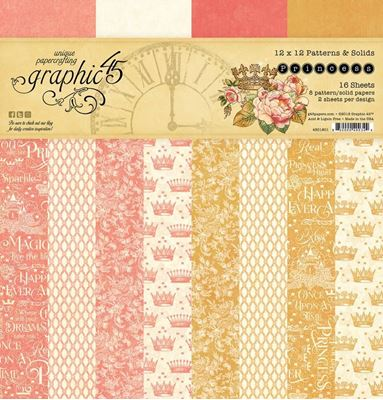 Papir blok 12x12 Patterns & Solids fra Graphic 45 - Princess