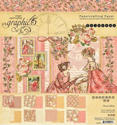 Papir blok 8x8 fra Graphic 45 - Princess