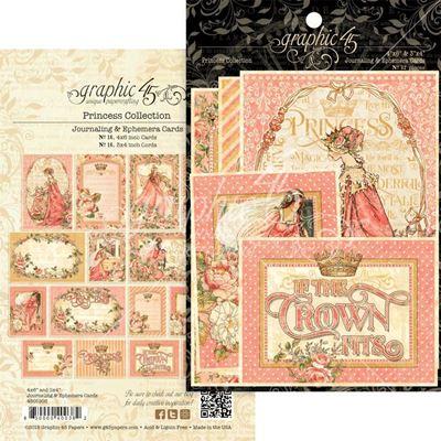 Kort i karton fra Graphic 45 - Princess - Journaling & Ephemera