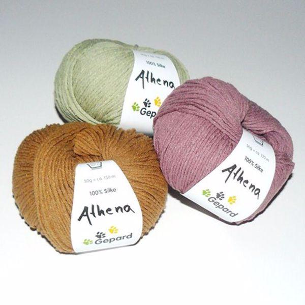 Athena, 100% råsilke strikkegarn fra Gepard Garn
