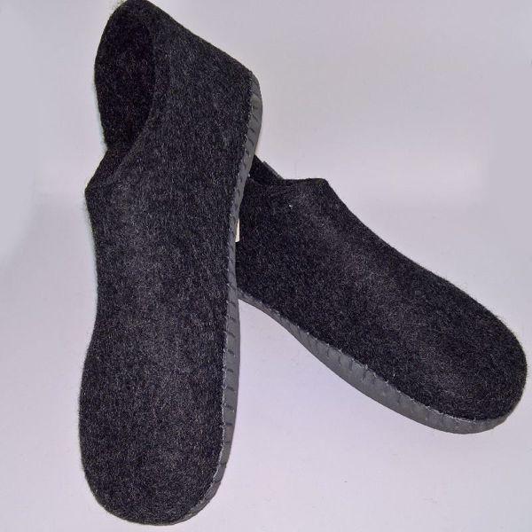 Håndfiltede filtstøvler fra Clemente - Halvstøvle med velcro