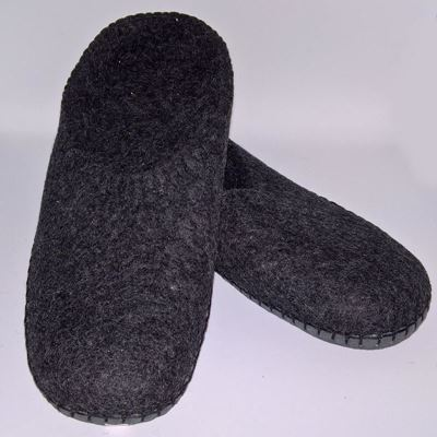 Håndfiltede filtstøvler fra Clemente - Koksgrå Slippers