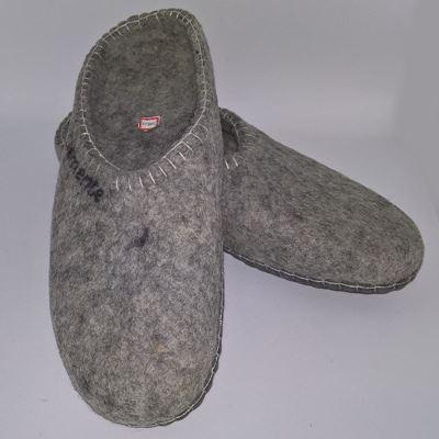 Håndfiltede filtstøvler fra Clemente - Lysegrå Slippers