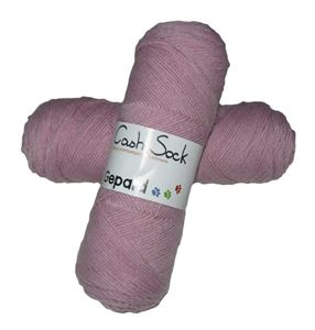 CashSock - lækkert strømpegarn med cashmere - 6002 Rosa
