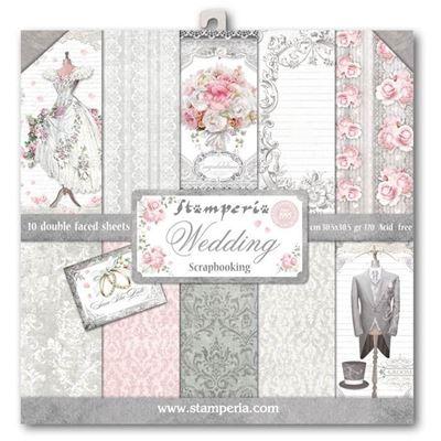 Stamperia Wedding design papir pakning til scrapbooking og kort - SBBL18