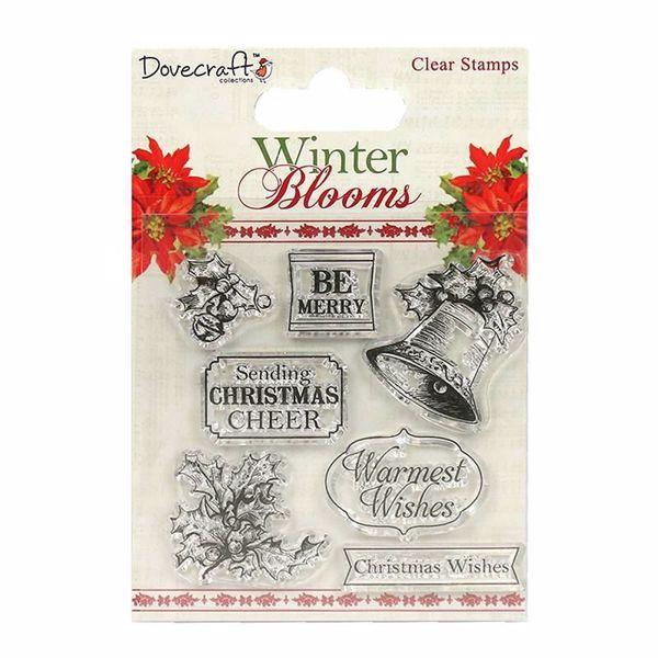 Winter Blooms - Silikone stempel fra Trimcraft til scrapbooking og kort - DCSTP067x16