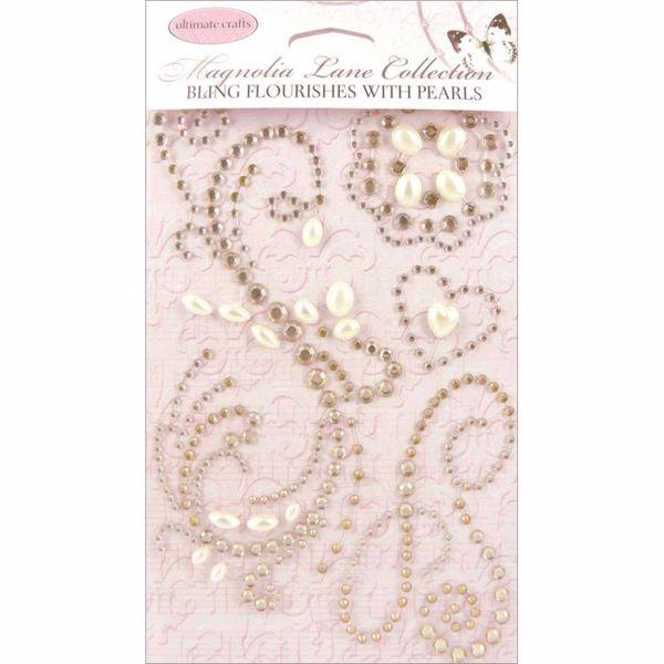 Bling Flourishes with Pearls fra Ultimate Craft til kort, mix media og scrapbooking