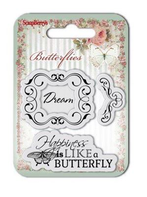 Silikone stempel Butterfly fra Scrapberrys - SCB4907002b