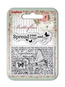 Silikone stempel Butterfly fra Scrapberrys - SCB4907003b