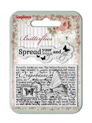 Silikone stempel Butterfly fra Scrapberrys - SCB4907003b