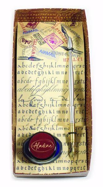 Penneskaft og blæk fra Aladine