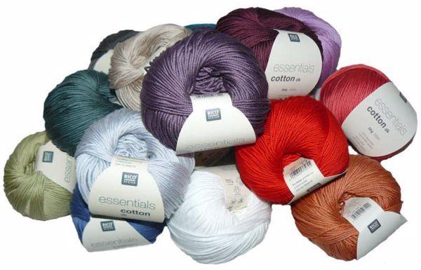 Merceriseret bomuldsgarn fra Rico Design - Essentials Cotton dk