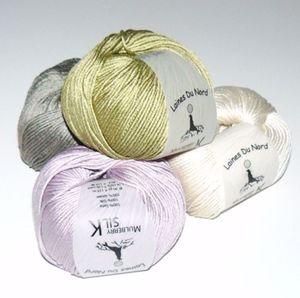 Mulberry Silk, 100% mårbærsilke strikkegarn fra Laines Du Nord
