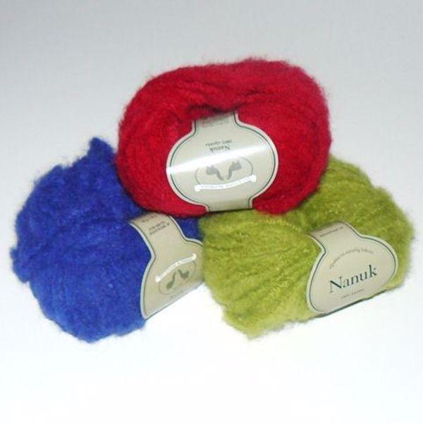 Tykt Nanuk strikkegarn fra Du Store Alpakka
