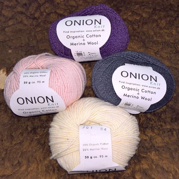 Organic Cotton + Merino Wool strikkegarn fra ONION