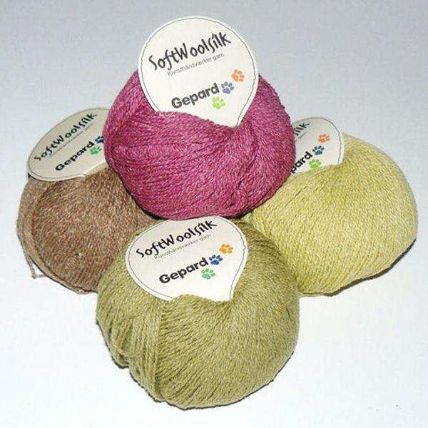 SoftWoolSilk, strikkegarn fra Gepard Garn