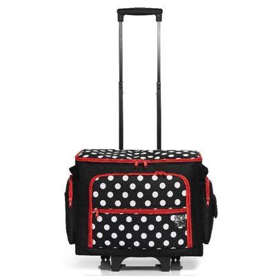 Symaskine Trolley fra Prym til opbevaring af håndarbejde, garn, patchwork og scrapbooking - Polka Dots