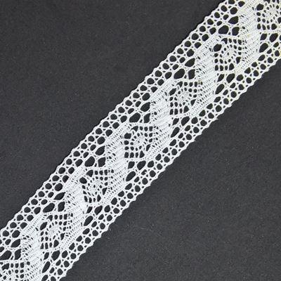 Mellemværk af bomulde med en bredde på 49 mm - Hvid