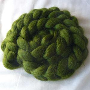 Wensleydale tops til spinding af garn - Flaskegrøn