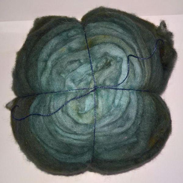 Håndmalet kæmmet Corridale tops - klar til spinding