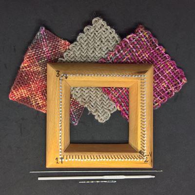 Uldtroldens sømvæv til små hurtige firkanter 10 x 10 cm
