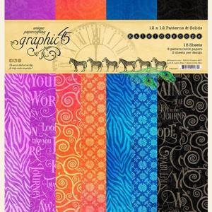 Papir blok 12x12 Patterns & Solids fra Graphic 45 - Bloom