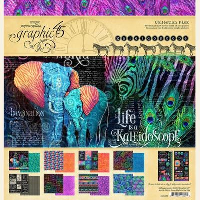 Papir kollektion 12x12 fra Graphic 45 - Kaleidoscope