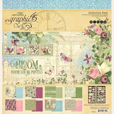 Papir kollektion 12x12 fra Graphic 45 - Bloom