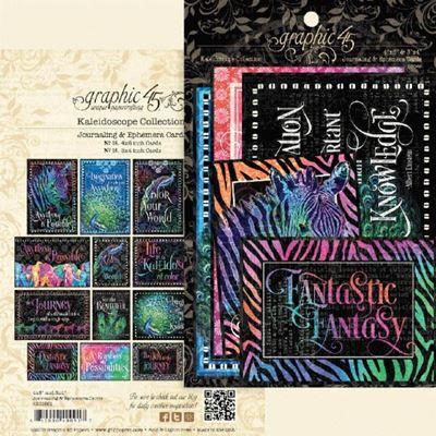 Kort i karton fra Graphic 45 - Kaleidoscope - Journaling & Ephemera
