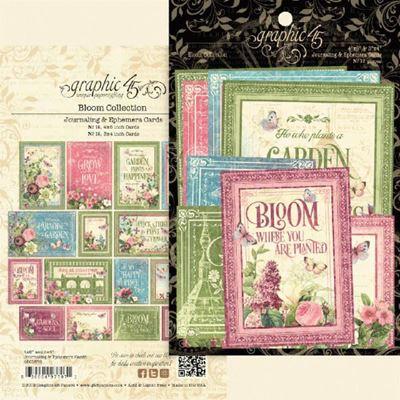 Kort i karton fra Graphic 45 - Bloom - Journaling & Ephemera