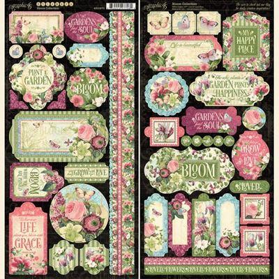 Stickers klistermærker fra Graphic 45 - Bloom