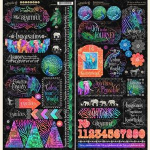 Stickers klistermærker fra Graphic 45 - Kaleidoscope