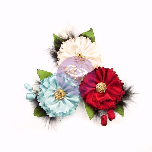 Midnight Garden design blomster fra Prima Marketing til Mix Media, scrapbooking og kort -  637811 Midnight Elegance