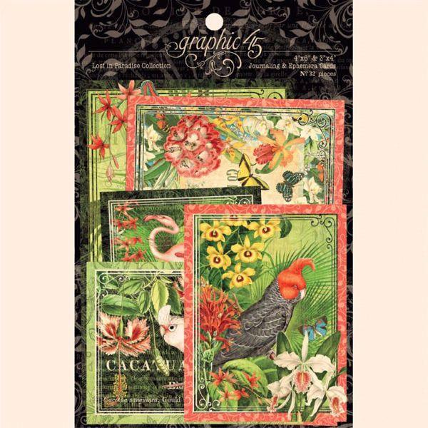 Kort i karton fra Graphic 45 - Lost in Paradise 4501897 - Journaling & Ephemera