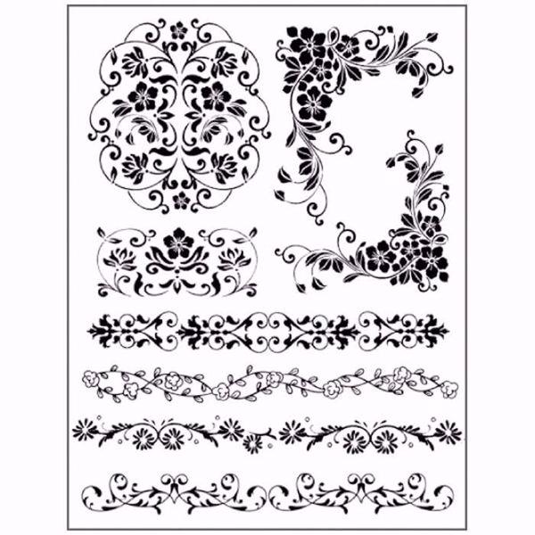 Gummistempel med cling -  Blomster Borter stempler fra Stamperia WTKCC68