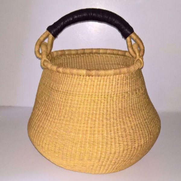 Hammershus Fairtrade Pot Basket af elefantgræs - Natur