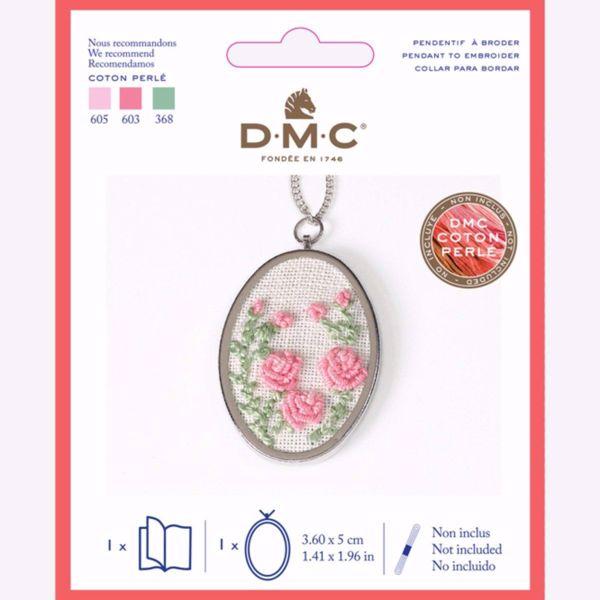 Sølvfarvet metal medaljon til broderi fra DMC - U2080
