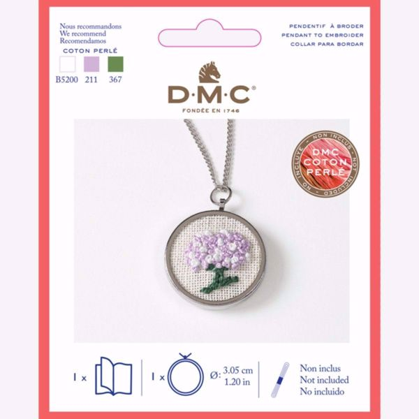 Sølvfarvet metal medaljon til broderi fra DMC - U2081