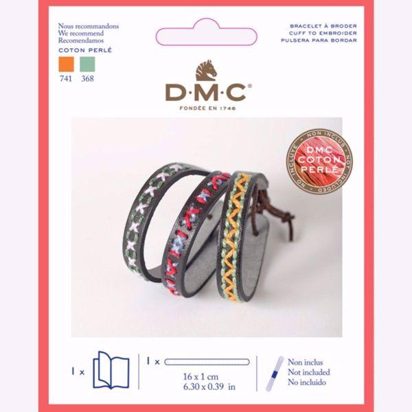 Kunst læder armbånd til broderi fra DMC - U2088