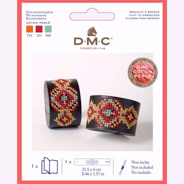 Kunst læder armbånd til broderi fra DMC - U2089