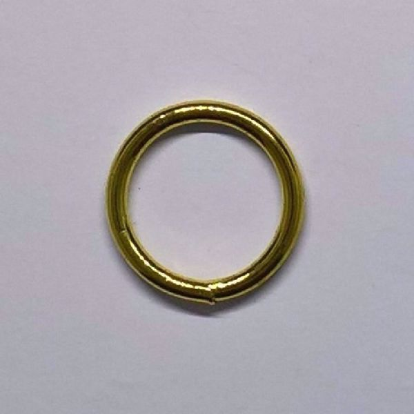 Messingfarvet metalring - 18 mm