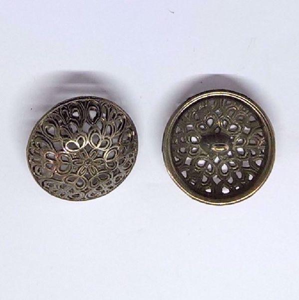 Åben Renæssance metal knap - 23 mm