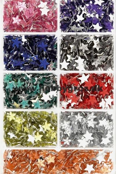 Halvperler 6 mm stjerner. Til dekoration af kort og scrapbooking