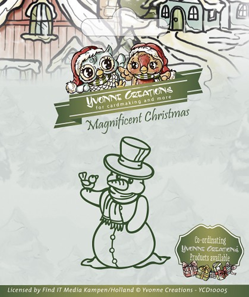 Yvonne Creations Magnificent Christmas, Snemand standsejern til scrapbooking - YCD10005
