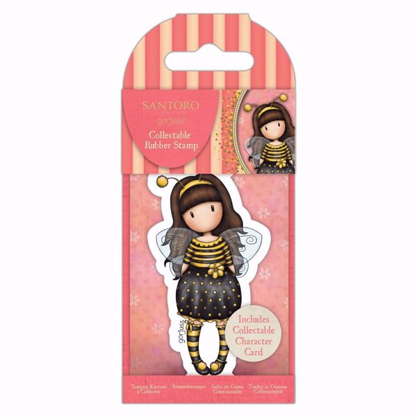 Gorjuss Collectable mini gummi stempel til scrapbooking og kort - GOR 907331 -  No 66 Bee Loved