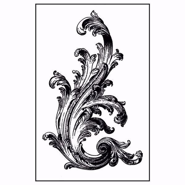 Gummistempel med cling - Victorian Volute stempel fra Stamperia WTKCC135