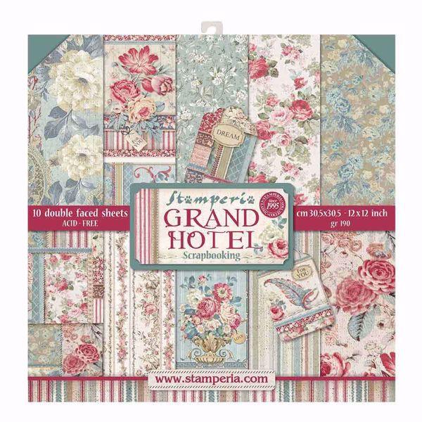 Stamperia Grand Hotele design papir pakning til scrapbooking og kort - SBBL57