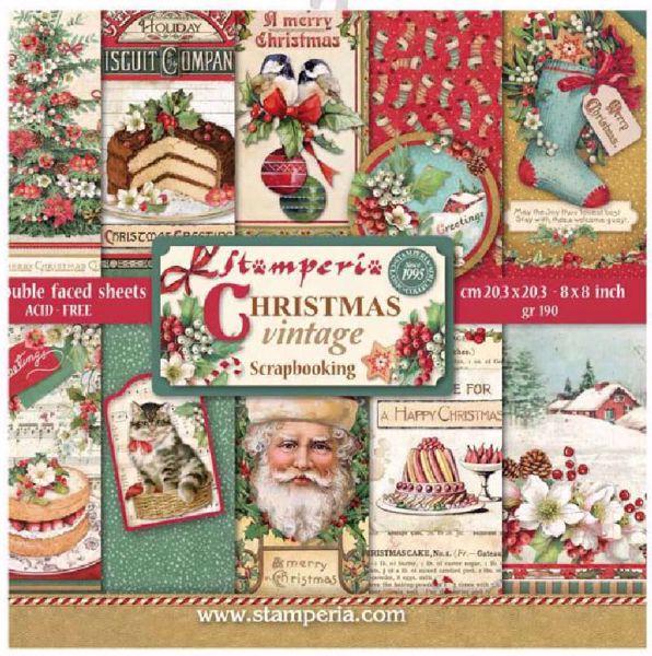 Stamperia Christmas Vintage design papir pakning til scrapbooking og kort - SBBS02