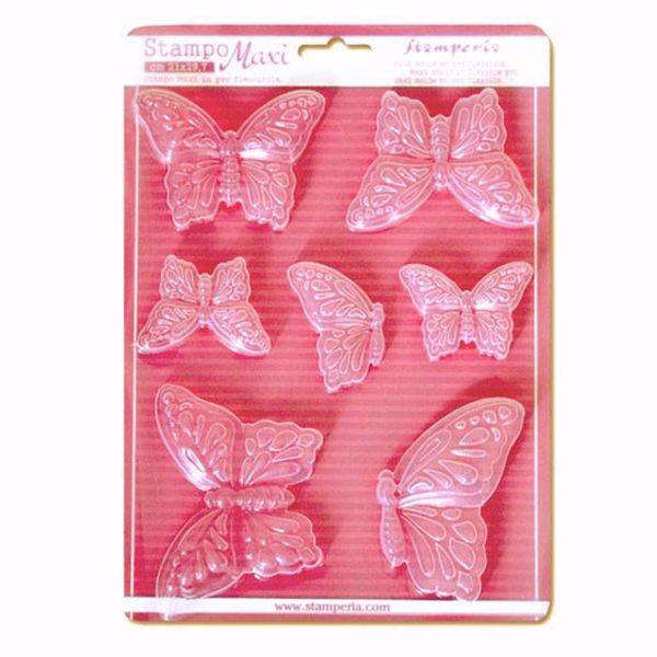 Stamperia Soft Maxi Mould Butterflies - Sommerfugle K3PTA415