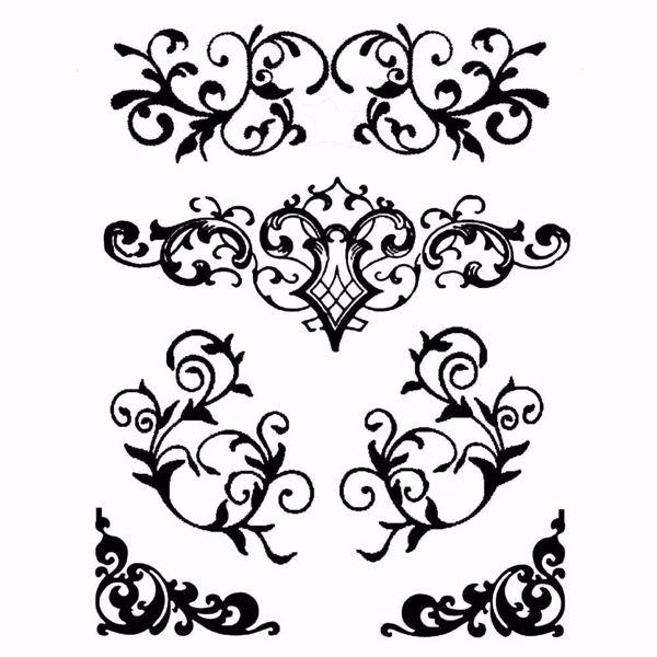 Dekorationer KSTD038 mask, stencil fra Stamperia